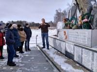 19 февраля Поездка к памятнику павшим солдатам-Степнинцам
